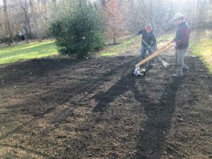 We plant our garlic crop in a bed behind my main greenhouse. Garlic likes loose, loamy and nutrient filled soil. When preparing soil for garlic planting, be sure to add plenty of organic matter, compost, manure and fertilizer.