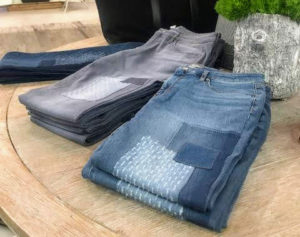 These jeans are so popular - they come in dark indigo, medium indigo and gray.