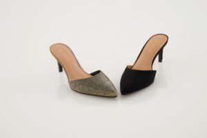 My Mule comes in gilver and also in a black suede - both great additions to any holiday outfit.