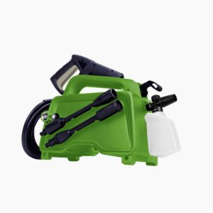 The detergent tank adjusts from a jet spray to a gentle, soapy wash with the flip of a switch.