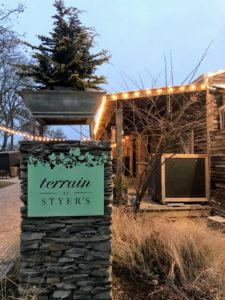 The book signing was held at Terrain's flagship store. Terrain offers an assortment of seasonal plants and items for the home and garden. It also has indoor-outdoor nurseries, a cafe and a garden terrace for events and workshops.