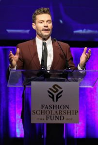 """Style Icon of the Year"" went to Ryan. Here he is addressing the audience saying his involvement in the fashion business was ""driven by business opportunity and a long­-time fascination with fashion. (Photo by Cindy Ord/Getty Images for Fashion Scholarship Fund)"