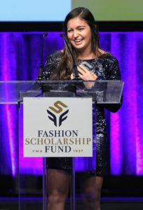 SCAD, Savannah College of Art and Design, student, Isabella Mendez, was the other winner. Both Isabella and Jennifer won 35-thousand dollars each.(Photo by Cindy Ord/Getty Images for Fashion Scholarship Fund)