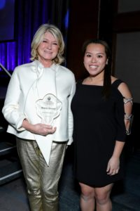 Here I am with Geraldine after accepting the Award. (Photo by Cindy Ord/Getty Images for Fashion Scholarship Fund)