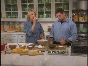 On the same episode, Sean showed me how he prepares Jalapeno Poppers with a light beer batter - an indulgent bar food.