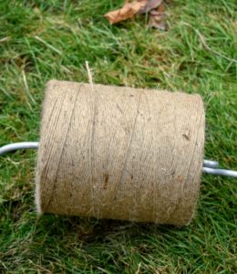 The project also requires rolls and rolls of jute twine.