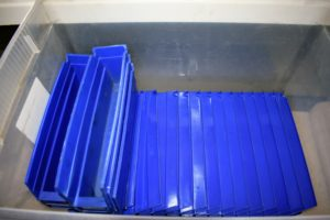 We use these shelf trays for various small parts and components such as screws, nails, washers, nuts, etc.