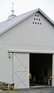 My Equipment Barn is quite large - about 40 by 120 feet, with a substantial amount of height. It is located just off a carriage road near my hay barn and greenhouses.