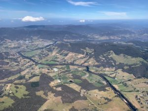 Returning to the skies, we headed inland over The Arthur Range, one of Tasmania's most spectacular mountain ranges.