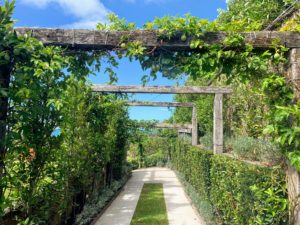 We took a walking tour of her gardens - I love her pergola.