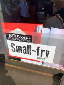 Afterwards, we went to a small, but delicious restaurant called Small Fry on Bathurst Street in Hobart. It serves cutting-edge Tasmanian cuisine.