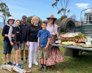 Here I am with Sarah, Matt and his family - wife, Vanessa Dunbabin, and sons Henry and William. Thank you for such a lovely time at Bangor, and for the delicious food we shared. Please get a copy of Sarah's book, WILD Adventure Cookbook - you'll love it. https://www.amazon.com/Wild-Adventure-Cookbook-Sarah-Glover/dp/3791384937