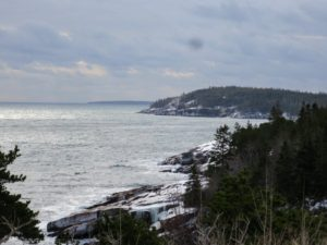 Here is a view from Ocean Drive, just a few miles away from Egg Rock Light.