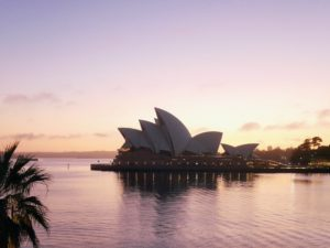 I couldn't sleep that first night because of the jet lag, so I took more photos from my window of the iconic Opera House. This photo was taken at about 5am. The Opera House occupies the whole of Bennelong Point on Sydney Harbor, between Sydney Cove and Farm Cove, adjacent to the Sydney central business district and the Royal Botanic Gardens. It is also not far from the Sydney Harbour Bridge.