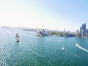 Here is the Opera House from the bridge - I love its famous architecture and design.