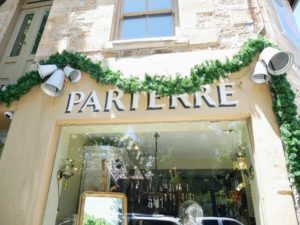 Another wonderful looking shop was Parterre - the street was filled with charming stores, but not one was open.