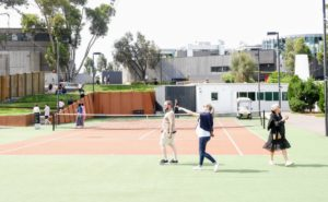 Near the entrance to the museum, there is even a well-kept, hard-surface tennis court - David likes tennis.