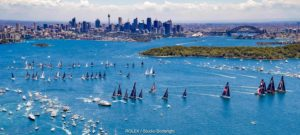 Here is another photo of the race start from a higher vantage point - it was a clear, clear day. (Photo provided by Cruising Yacht Club of Australia)