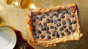 "Cookbook author, Sam Seneviratne, who also worked for me in my test kitchens, bakes a mouthwatering berry frangipane phyllo tart. It's a season full of delicious recipes and tips - don't miss ""Martha Bakes""! Check your local listings for air times. (Photo by Mike Krautter) http://lovecommacake.com/ http://www.pbs.org/food/shows/martha-bakes/"