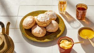 These scones are made using ginger. Baker and cookbook author, Joanne Chang, shares her imaginative recipe for these lemon-ginger treats. (Photo by Mike Krautter) https://flourbakery.com/