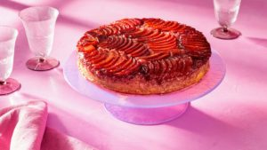 And then, Chef Becky - Al's wife - shares her signature plum upside-down cake. It is just as delicious as it is beautiful. (Photo by Mike Krautter) https://www.froghollow.com/