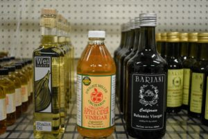 And a variety of vinegars and oils.