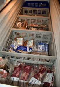 This freezer is filled with pasture raised beef and pork - everything sourced to reputable, organic farms.