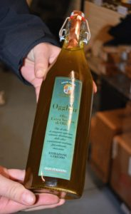 This olive oil is from Sicily - a case of it was personally delivered during our visit - made in Italy, flown to the United States and then delivered straight to Mike's Organic.