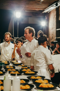Here is Chef Dan Barber overseeing all the activity in the kitchen. (Photo by Laura Murray for Row 7 Seeds)