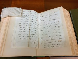 Stephen showed us this Charles Darwin letter, Down House, Kent, 1845.
