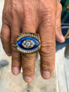 This is Andre's Hall of Fame ring - only 180 Hall of Famers alive today.