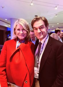 I also saw my friend, Dr. Oz, who was there with his wife, Lisa.