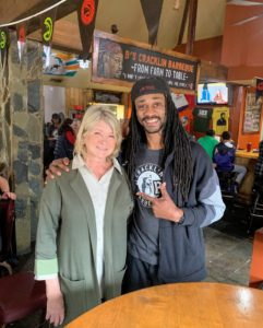Here I am with Bryan - he was so excited we came to his restaurant!