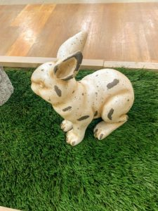 And I love these Small Bunny Garden Sculptures. These pieces were inspired by charming antique lead door stops that I bought years ago. And they look so natural - outside the door, under a shrub or in the garden.