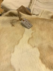 I saw a couple of very nice, soft cow hides, but did not buy either of them.