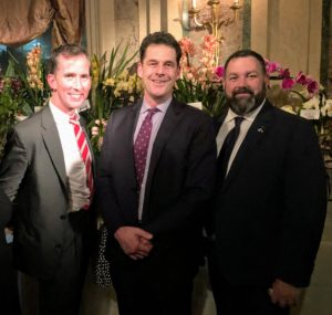 Here's a nice photo of our own EVP Design Director at Sequential Brands Group, Kevin Sharkey, NYBG Arthur Ross Vice President for Horticulture and Living Collections, Todd Forrest, and Marc.