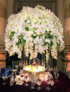 This all-white orchid arrangement was presented by Colin Cowie for Colin Cowie Lifestyle, a full-service event design and production company. https://www.colincowie.com/