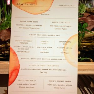 Here is the menu featuring watercolors by artist, Leanne Shapton.