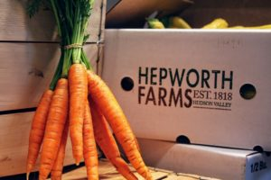 Many of the farm fresh organic vegetables, such as these carrots, come from Hepworth Farms in Milton, New York. (Photo courtesy of Mike's Organic) https://www.hepworthfarms.com/
