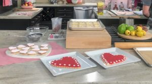 Here are my red Valentine's cookies - they look great on these square white plates.
