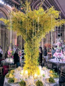 Our assigned table was number-17, under this glorious yellow orchid arrangement by NOIR hanna International, Inc. http://www.noirhanna.com/