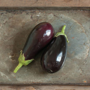 Another traditional looking eggplant is 'Galine'. This is a high-yielding black to purple bell variety that is very glossy and uniform, with fruits that are six to seven inches long when mature. (Photo courtesy of Johnny's Selected Seeds)