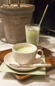For a non-alcoholic, healthy beverage alternative, try my Matcha Green Tea Latte. You can enjoy it hot or iced!