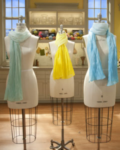 Refresh your spring wardrobe with a fashionable ombre-dyed spring scarf. You can find step-by-step instructions on my web site. https://www.marthastewart.com/272063/ombre-scarf