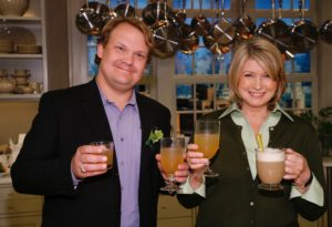 Actor, comedian, and late-night talk show sidekick, Andy Richter, enjoyed a toe-warming after-dinner drink with me in this segment. The Nutty Irishman is spiked with Frangelico, or hazelnut-flavored liqueur, and Bailey's Irish Cream.