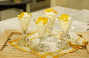 Mango provides the perfect foundation for a blanket of whipped cream in this easy yet delicious Mango Fool. Serve after dinner for a silly sweet treat!