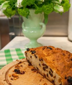 An essential for St. Patrick's Day breakfast or brunch, Irish Soda Bread is an easy to make quick bread studded with raisins and caraway seeds.