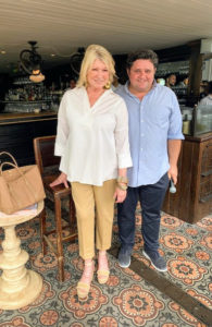 Here I am with Guy Chetwynd, the general manager at the Soho Beach House and head of operations.
