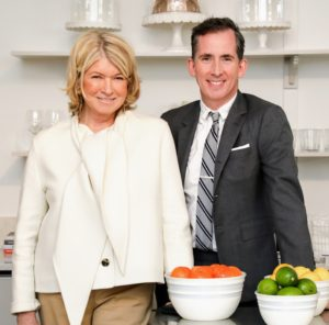 And here I am with Kevin Sharkey in our Bedford Collection kitchen. I am so excited about my Lifestyles line - I know you will love everything! And we're constantly coming out with more and more, so be sure to keep visiting this blog and my Instagram page @marthastewart48 for announcements. (Photo by Benjamin Lozovsky/BFA)