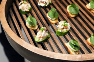 Wild Alaskan Dungeness Crab - another flavorful hors d'oeuvre made with crab from True North. (Photo by Benjamin Lozovsky/BFA)